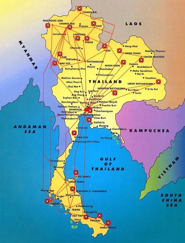 Thailandia Cartina Geografica.Thailandia Regioni Mappa